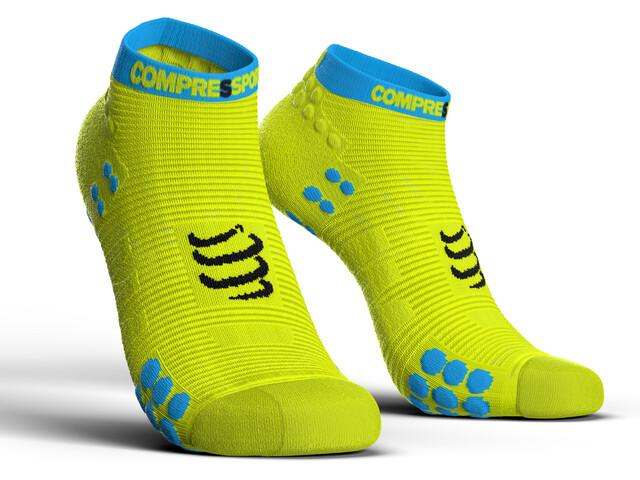 Compressport Pro Racing V3.0 Run Low Sokken, fluo yellow